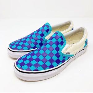 Vans Slip On Asher Checkered 7.5 Sneaker Classic
